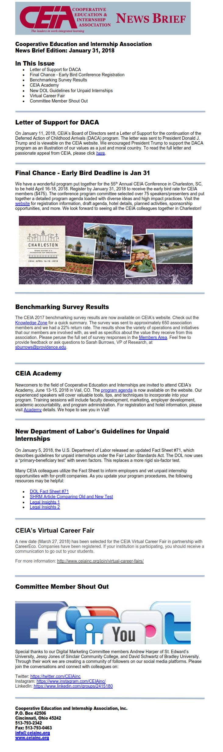 News Brief - Current Issue - CEIA : CEIA